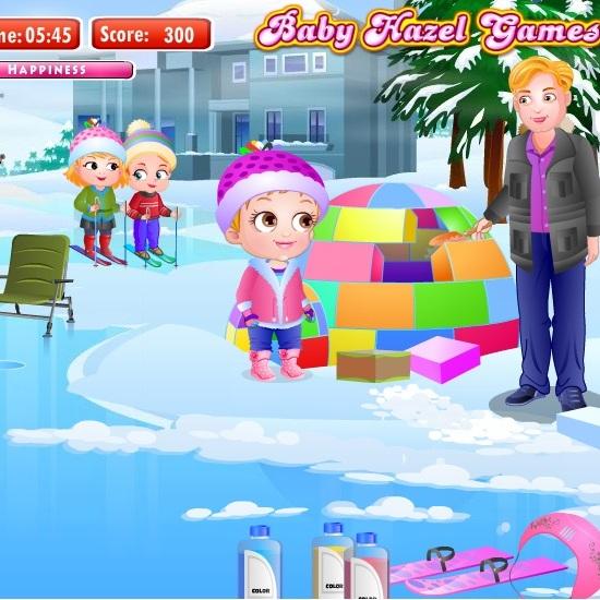 Малышка Хейзел зимние развлечения