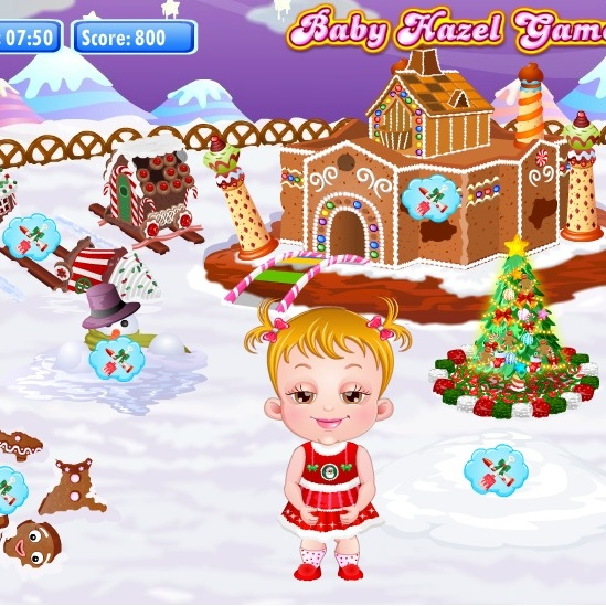 Малышка Хейзел Рождественский домик
