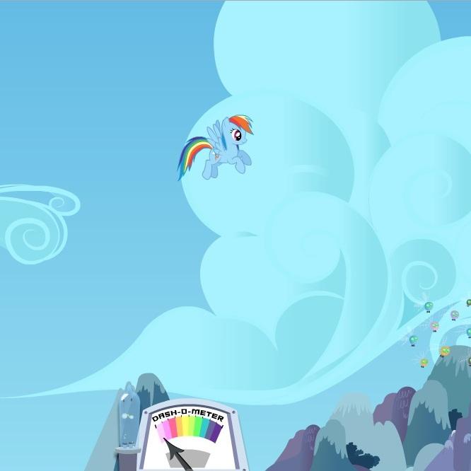 Литл Пони летающая Рэйнбоу Дэш