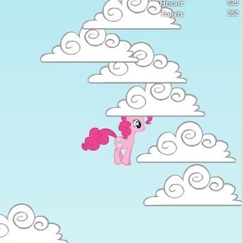Литл Пони Пинки Пай прыгает в облака