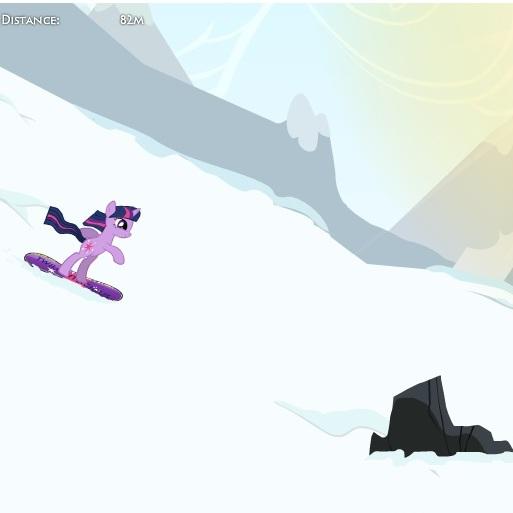 Твайлайт Спаркл на сноуборде Литл Пони