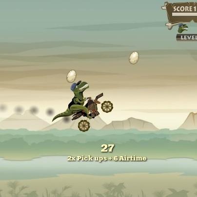 Динозавр на мотоцикле