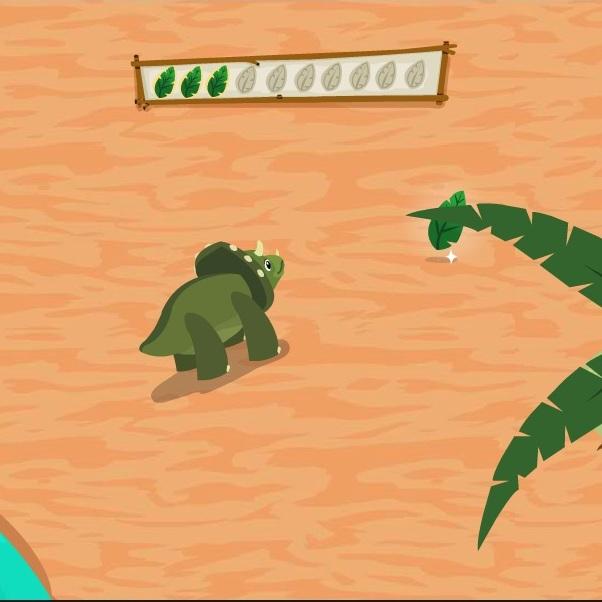 Динозавр в поисках листьев