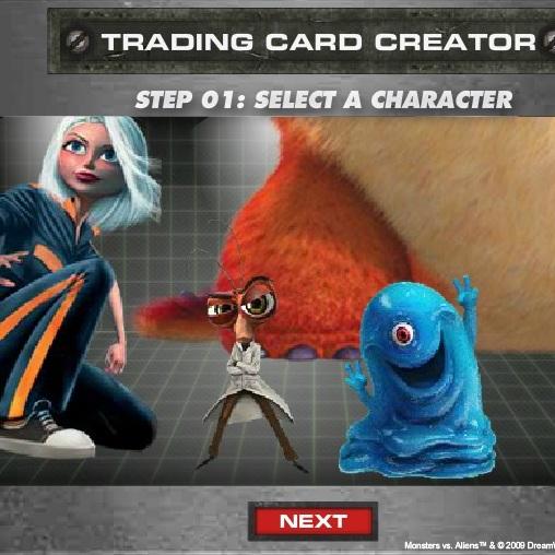 Создай свою карточку Монстры против Пришельцев