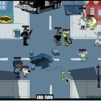 Турбо агент Дадли битва в городе