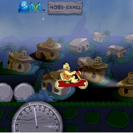 Флинстоуны гонка на мотоцикле