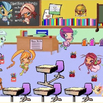Малышки Винкс в школе