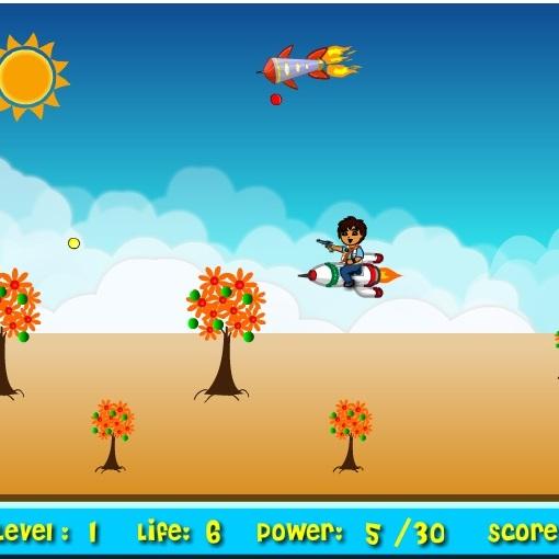 Диего полет на ракете
