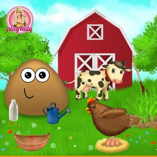 Pou на ферме