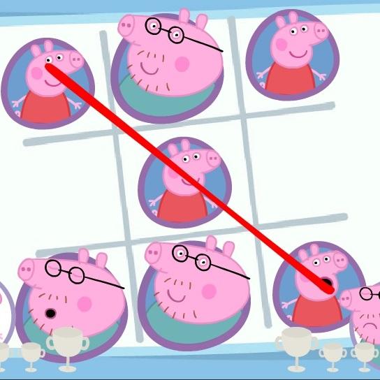 Свинка Пеппа крестики нолики