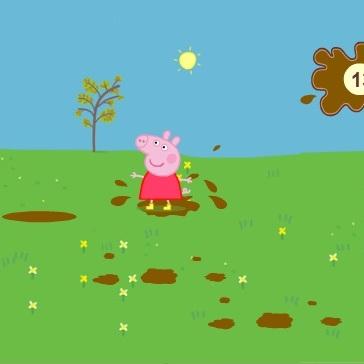 Свинка Пеппа прыжки по лужам