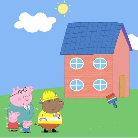 Свинка Пеппа строим дом для папы