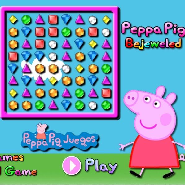 Свинка Пеппа три в ряд