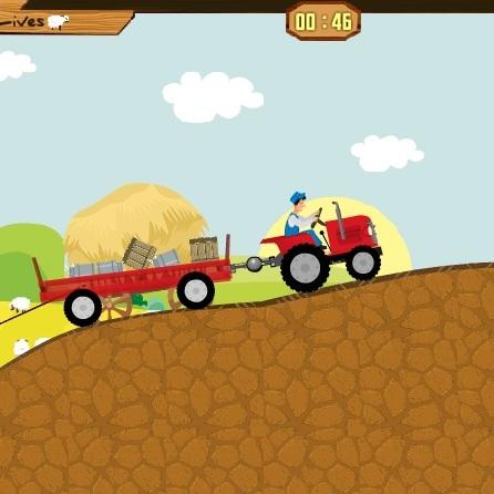 Перевоз продукции с фермы на тракторе