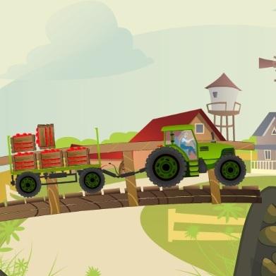 Фермер Тед на тракторе