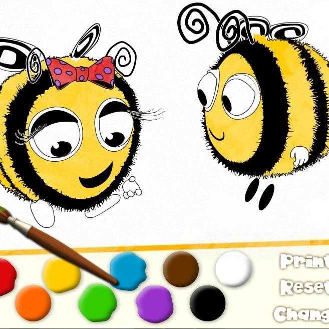 Пчелиные Истории раскраска