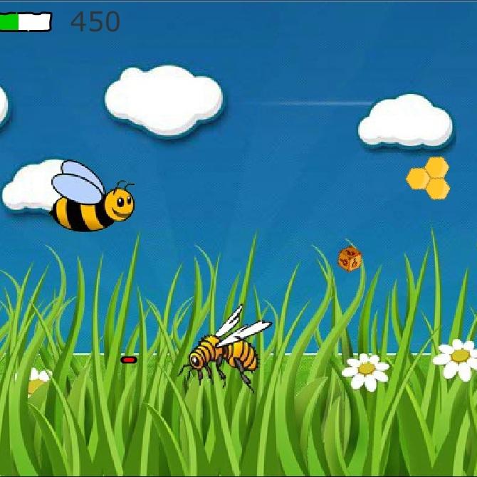Пчела в полёте