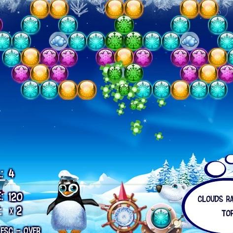 Стрельба по пузырям Пингвина