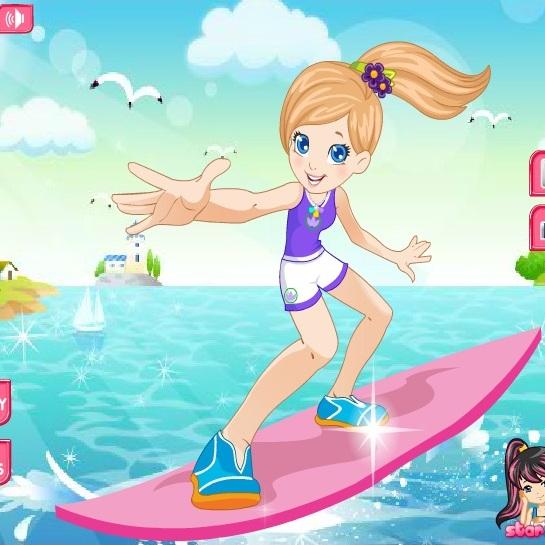 Полли сёрфингистка