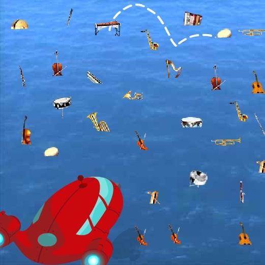 Маленькие Эйншеуйны океан музыкальных инструментов