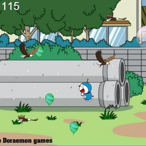 Дораэмон ловит воздушные шары