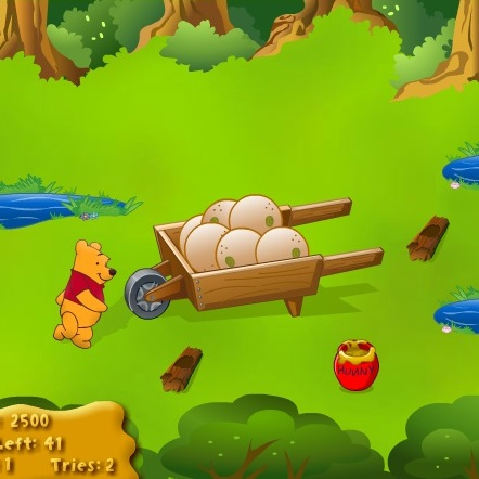 Винни Пух собирает горшочки с мёдом