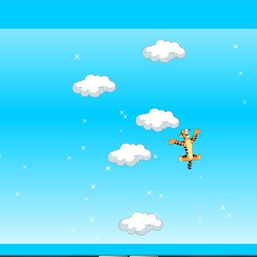 Винни Пух прыжки по облакам Тигрули