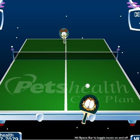 Пинг понг с Гарфилдом