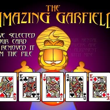 Гарфилд картёжник