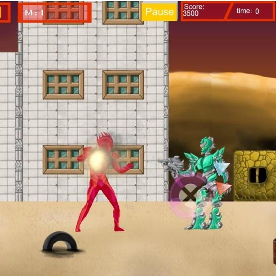 Ультрамен сражается с роботами