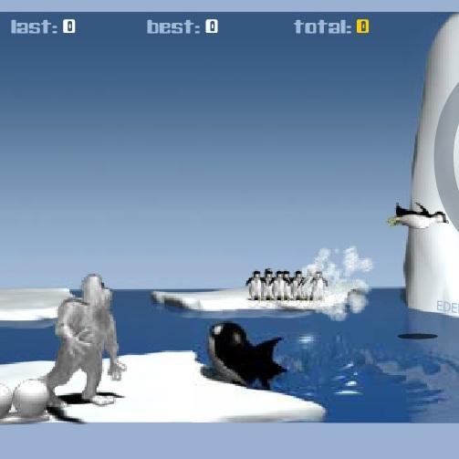 Йети: сбей  пингвина