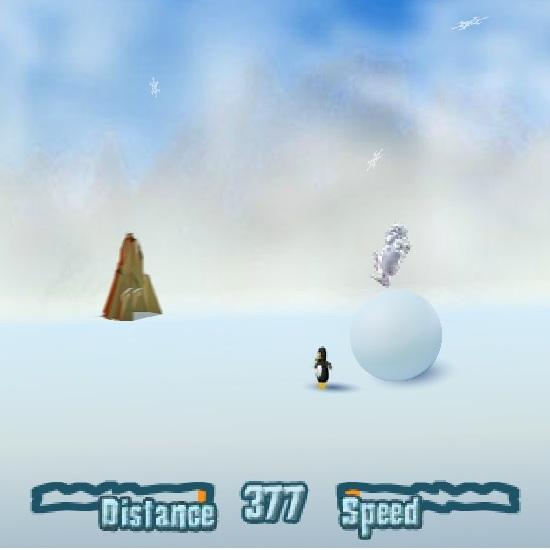Йети на снежном коме
