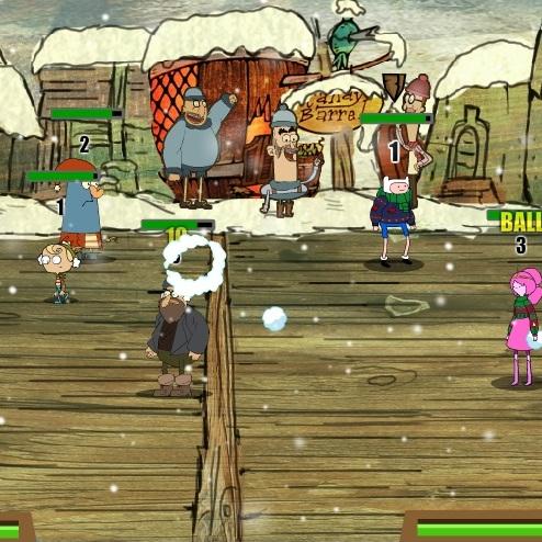Время приключений игра в снежки