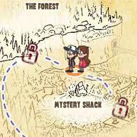 Карта подземелья Гравити Фолс