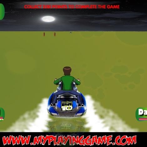 Бен 10 на водном мотоцикле