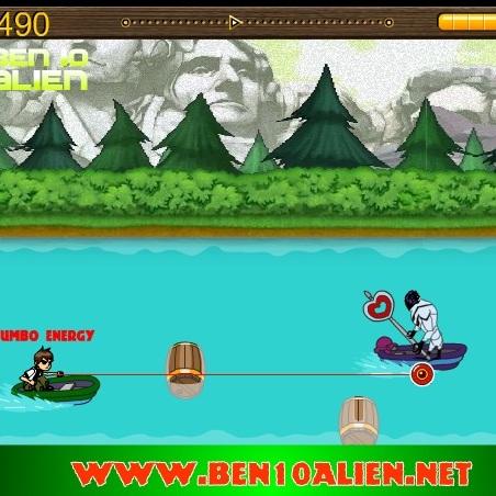 Бен 10 супер атака на лодке