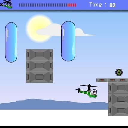 Бен 10 полет на вертолете