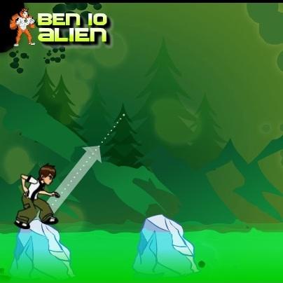 Бен 10 прыжки по льдинах