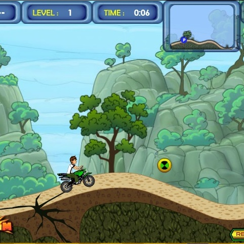 Бен 10 езда по холмам