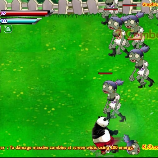 Кунг-фу Панда нападение зомби