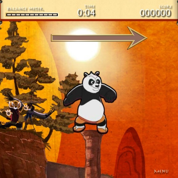 Кунг-фу Панда прыжки