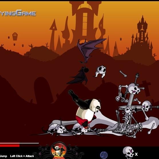 Кунг-фу Панда атака на скелетов