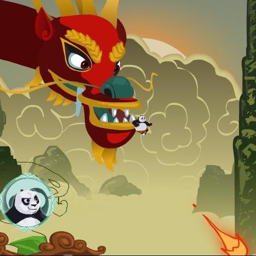 Кунг-фу Панда убежать от дракона