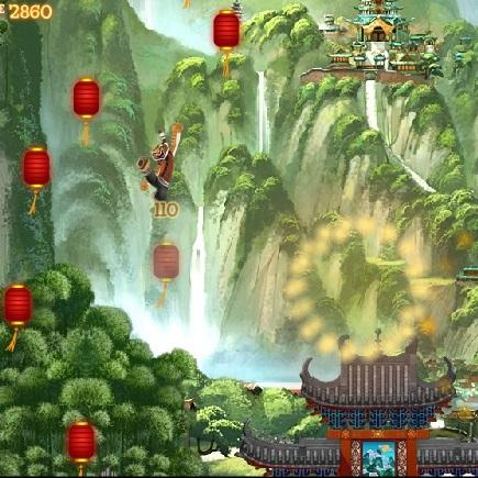 Кунг-фу Панда прыжки Тигрицы