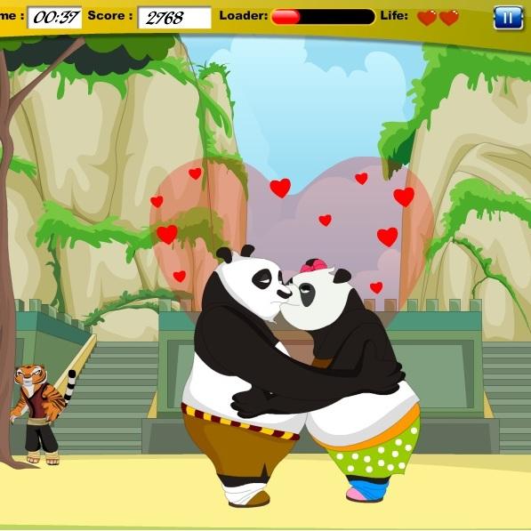 Кунг-фу Панда поцелуи