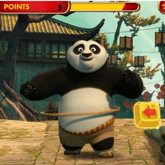Кунг-фу Панда крутит хулу