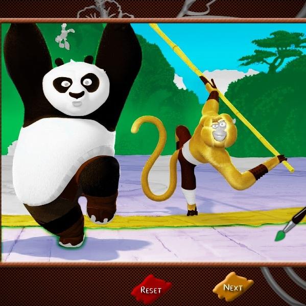 Кунг-фу Панда разкраска