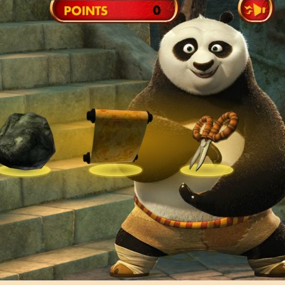 Кунг-фу Панда камень-ножницы-бумага
