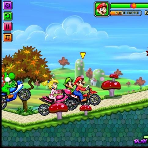 Марио гонка на мотоциклах