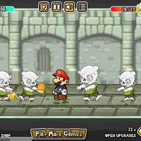 Марио мочит зомби
